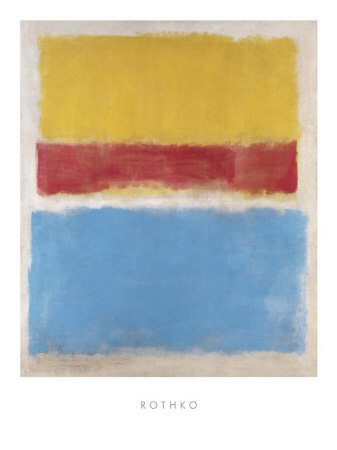 ed (Yellow-Red and Blue) Poster / Kunstdruck (60 x 80) (Blue Poster Board)