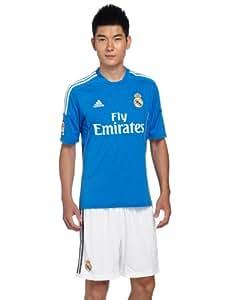 adidas Men's Real Madrid Away Jersey - Air Force Blue/White/Light Orange, X-Large