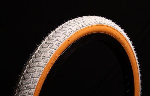 CURIO UK BMX-Reifen, weiß mit Gummiwand, 50,8 x 5,3 cm,LS214, fürRampe und Straße
