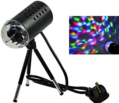 TSSS LED Home Party Stage Light 3D Effects Lenses Rotating with Tripod RGB Background Decoration Entertainment by Coventry Retailer