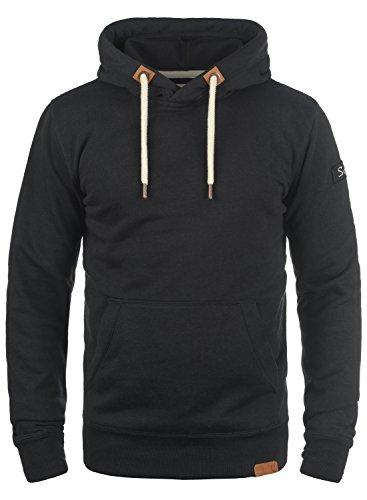 !Solid TripHood Herren Kapuzenpullover Hoodie Pullover mit Kapuze und Fleece-Innenseite, Größe:S, Farbe:Black (9000)