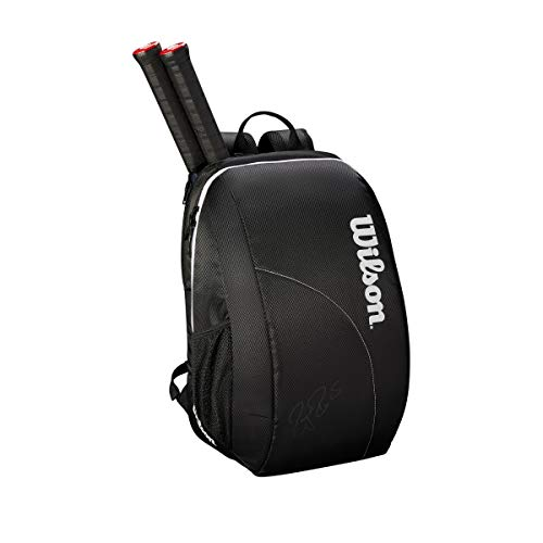 WILSON Unisex - Erwachsene FED Team Backpack Tennis Bag, Black/White, 2 Rackets