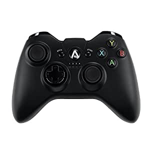AUKEY Gaming Controller Wireless 2.4 GHz Vibration-Feedback Gamepad PC Controller Support PC ( Windows Vista / 7 / 8 / 10 ), Android ( TV / Phone / Tablet ), and PS3 - Black