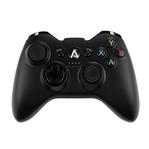 Price comparison product image AUKEY Gaming Controller Wireless 2.4 GHz Vibration-Feedback Gamepad PC Controller Support PC ( Windows Vista / 7 / 8 / 10 ), Android ( TV / Phone / Tablet ), and PS3 - Black