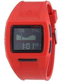 Nixon Lodown II Red - Reloj de cuarzo para hombre, correa de plástico color rojo