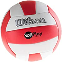Wilson Pelota de vóley-playa, Exterior, Uso recreativo, Tamaño oficial, SOFT PLAY, Rojo/Blanco, WTH3511XB