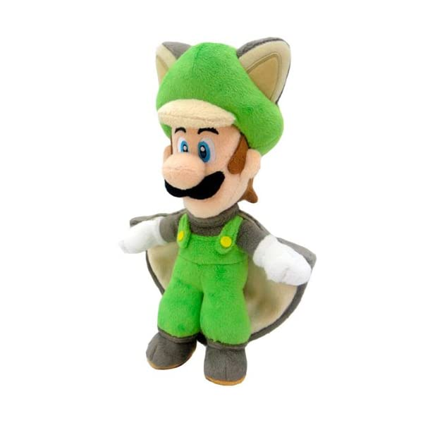 Super Mario Bros. Felpa Figura muñeca Pluch Ardilla voladora Luigi 38 cm Juntos Plus - Peluche Luigi Ardilla voladora… 1
