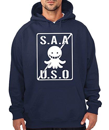 -- SAAUSO -- Korosensei Assassination Boys Kapuzenpullover Navy