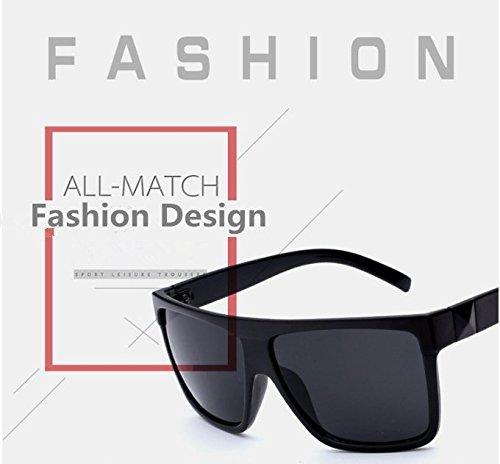 Nuevas gafas de sol grandes del marco del negro del estilo retro de la manera Hombres Oversized UV400 Eyewear Anti-UV Anti-reflejo Gafas de sol de conducci¨®n para exteriores Proteja sus ojos