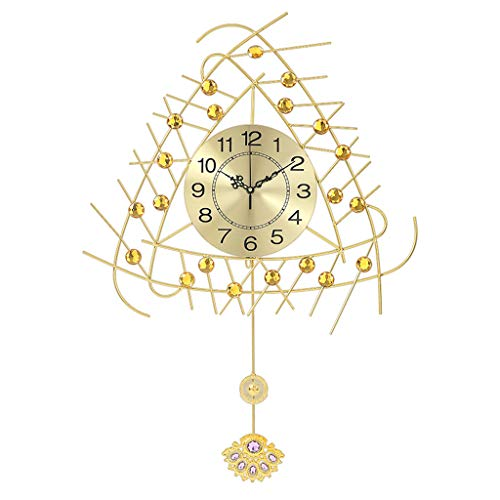 Relojes de pared MEHE@ Europea de Lujo Tachonada de Diamantes Metal Silencio Moderno Sala de Estar silenciosa Dormitorio Comedor Decoración de Pared de Arte en el hogar