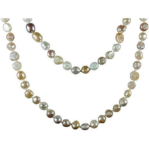 AQBEADSUK Collar de perlas de agua dulce