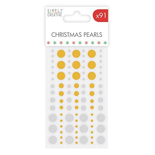 Simply Creative Weihnachten Basics Perlen–Gold und Silber, mehrfarbig (Perlen Doily)