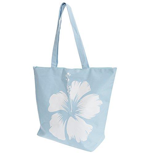 FLOSO - Borsa a Spalla fantasia floreale hawaiana - Donna Blu