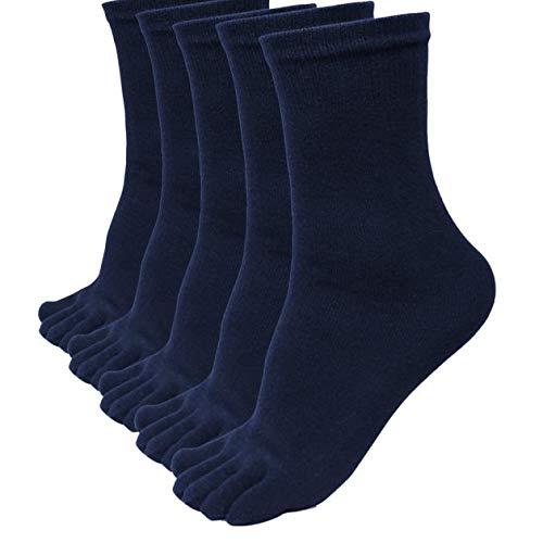Bcfuda-calzini 5 paia uomini gli sport in esecuzione cinque dito dito del piede calzini elastico corto soild