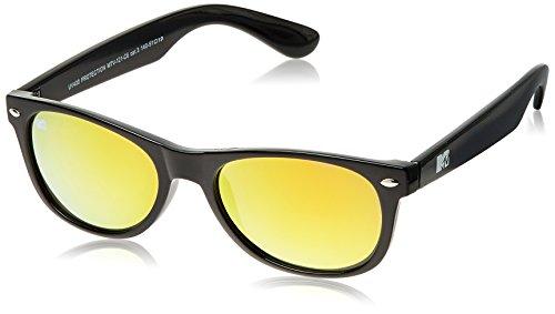 MTV Mirrored Oval Unisex Sunglasses (Black) (MTV Mirrored-121-C6) image
