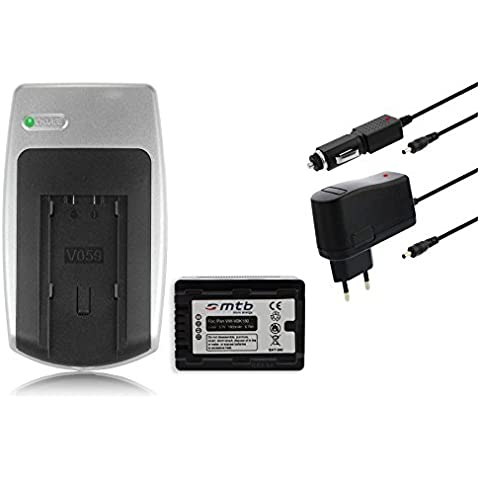 Batteria + Caricabatteria VW-VBK180 per Panasonic HC-V10, V100, V100M, V500, V500