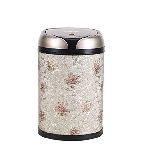 GXJ-trash Chang-dq Intelligente Mülleimer, Haushalt Wohnzimmer Küche Bad Induktive Papierkorb Kann Trittbrett Kunststoff Mülleimer Handelsbüro Papierkorb 6-12L Recycling (Farbe : B, größe : 8L) - Stahl-trittbrett