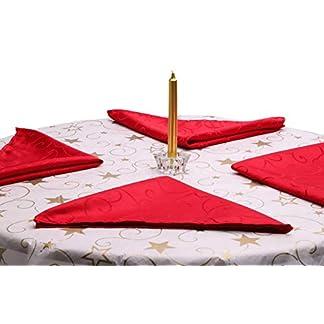 Christmas Concepts 45 x 45 cm Paquete de 4 servilletas Damasco Rojos (DA7)
