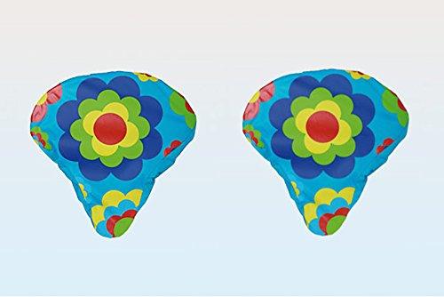 2er Set Dekorativer wasserabweisender Sattelbezug / Fahrradsattelüberzug / Fahrradsattelbezug / Regenschutz für Ihren Sattel / Sattlebezug - aus Nylon - passend für alle gängigen Fahrrad - Sattel - dekorative Design - Auswahl - Einheitsgröße mit Gummizug - Neu aus dem KAMACA-SHOP (2er Set Blumenmotiv) Finden Sie Weitere Red Dot