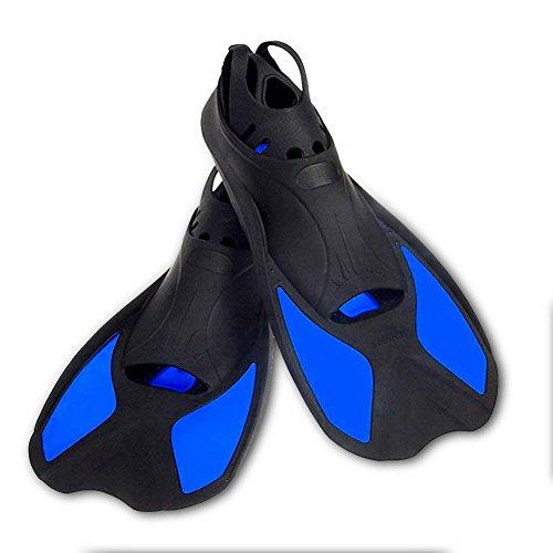 hzqs Smart Kurze Klinge Schwimmen Flossen für Training Schnorcheln, Blau