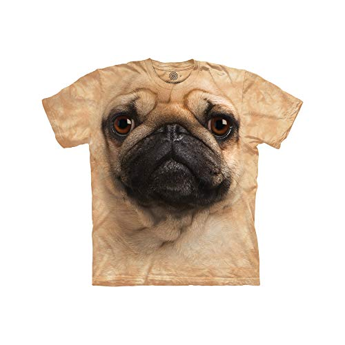 The Mountain Big and Tall Mops Face T-Shirt - Braun - 5X-Groß