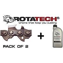 """X2(dos) 16""""auténtica rotatech cadenas de motosierra sierra de cadena compatible con Stihl 021023MS210MS230"""