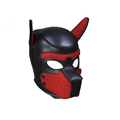 Puppy Play Head Mask Cosplay Hundekopfbedeckung BDSM Kopfgeschirr Haube Fetisch SM Bondage Slave Zurückhaltung Sex Spielzeug Für Frauen