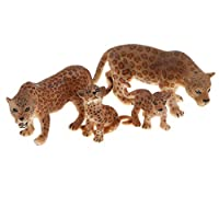 B Blesiya Realistic Jaguar Model Figure Toy Set, Kids Early Nature Science Learning Toy Collectible - Set of 4