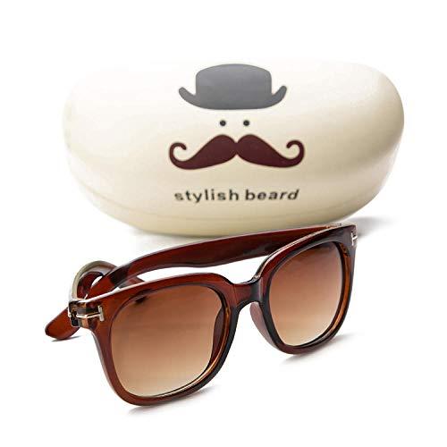 CYCY Kinder Sonnenbrille Jungen und Mädchen Baby Sonnenbrille Brille Sonnenbrille Gezeiten hohl - schwarz umrandeten Quecksilber Stück, T-förmig - braun
