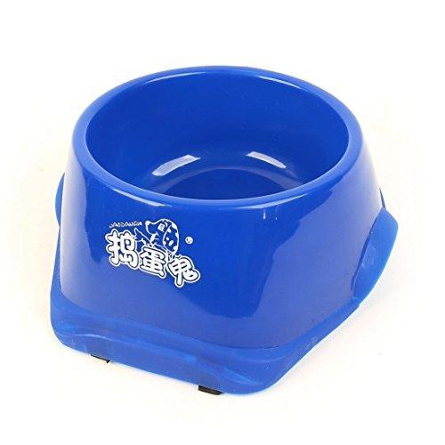 DealMux Nonslip Nahrungsmittelwasser-Zufuhr Haustier-Hündchen-Schüssel-Teller, Blau (Non-slip-haustier-schüssel)