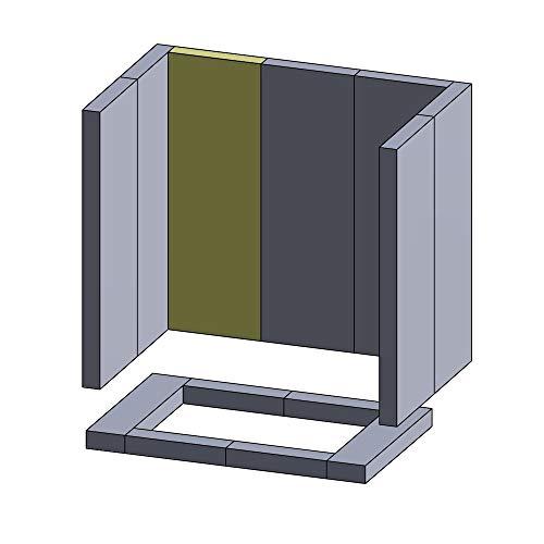 Flamado Rückwandstein Links/Mitte/rechts 310x130x30mm (Vermiculite)