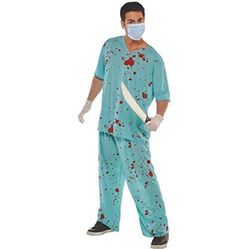 Bloody Unisex Scrubs * Blutiger Krankenpfleger Anzug* für Party // tolle Verkleidung für gruselige Halloween-Party // Herren Mann Männer Fancy Spooky Halloween Zombie Erwachsene Kostüm