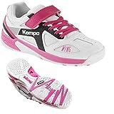 Kempa Schuhe Handballschuhe Turnschuhe für Kinder Mädchen weiß/lila mit Klettverschluss + Kempa Socken (29)