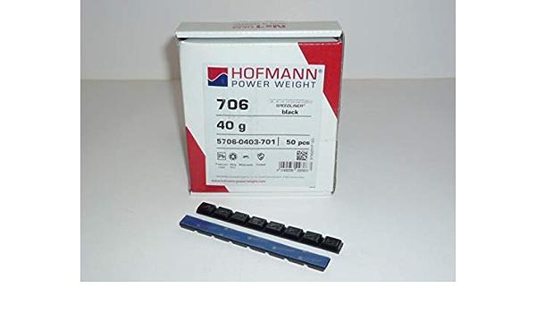 Hofmann Typ 706 Motorrad Kleberiegel Blei 40g Schwarz 50 Stück Klebegewicht 980220 50 Baumarkt