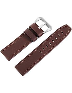 Massives Akzent 22mm Ersatzband XXL braunes matt Leder Uhren Armband