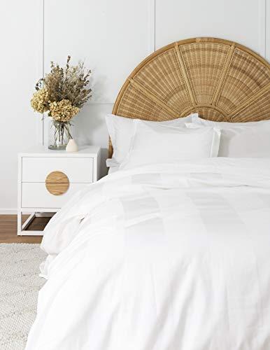 COASTLINE Baumwoll-Bettwäsche, breit gestreift, weiß, King Size -