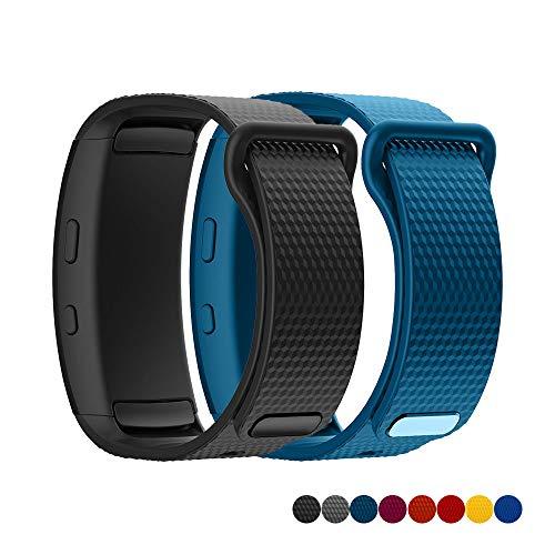 TOPsic Armband für Samsung Gear Fit2 / Gear Fit 2 Pro Armband, Ersatz Silikon Armband Armband Uhrenarmband für Gear Fit 2 Pro SM-R365 / Gear Fit2 SM-R360 - X Gear Große S Für Uhrenarmbänder