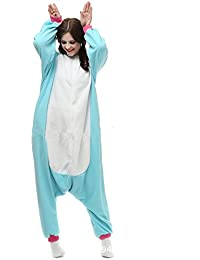 Misslight Einhorn Pyjama Damen Jumpsuits Tieroutfit Tierkostüme Schlafanzug Tier Sleepsuit mit Einhorn Kostüme Festival tauglich Erwachsene