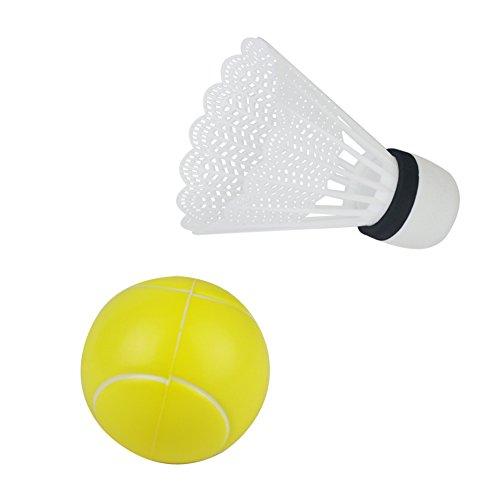 Akokie Tennis Badminton Bälle 2 Stück Zubehör für Kinder Badminton Tennis , MEHRWEG