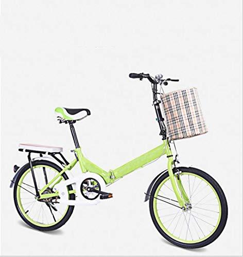 Fahrrad klappfahrrad 20 Zoll Non-Shift Fahrrad leichtes Fahrrad geeignet für bergstraßen und Regen- und schneestraßen.Dieses Fahrrad ist faltbar. (Color : Green)
