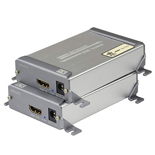 Einziges Cat5-kabel (ShuOne HDMI Extender über Cat5/Cat5e/Cat6/Cat6e Single LAN Kabel 100m (328ft) 1080p verlustfrei ohne Verzögerung für DVR, DVD, Heimkino)