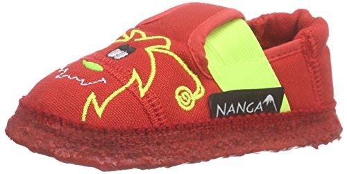Nanga Krümel Monster, Chaussons courts, non doublées fille Rouge - Rot (20)