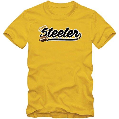 True Steeler #5 T-Shirt | Football | Herren | Super Bowl | Play Offs | USA © Shirt Happenz Gelb (Gold L190)