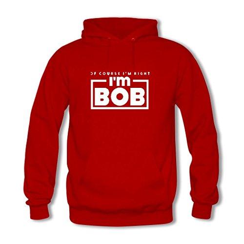 HKdiy Of Course I'm Right I'm Bob Custom Men's Printed Hoodie Red-2