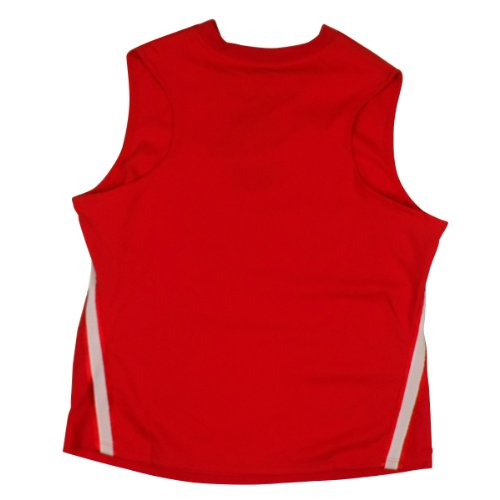 Nike Damen Trocken Dri Fit Laufhemd Ärmelloses Top Damen Fitnessstudio Trainings T-Shirt Rote Weste (groß Brust Logo)