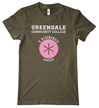 Greendale Community College - E Pluribus Anus Premium T-Shirt, Army,...