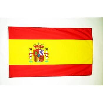 Ndier drapeau d 39 espagne drapeau 1 5 x 0 9 m 150 90 cm polyester id al pour int rieur et d - Drapeau d espagne a colorier ...