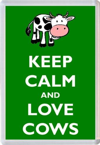 Keep Calm and Love Cows / Cow - Jumbo Fridge Magnet - Brand New Gift/Present/Souvenir