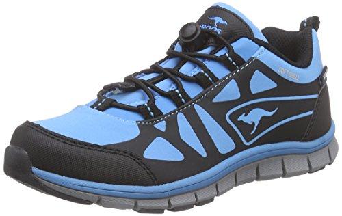 KangaROOSKOS 555 - Scarpe da trekking e da passeggiata Bambino , Blu (Blau (lake blue/black 455)), 37