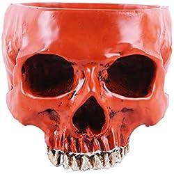 Forart Figurine Resin Skull Head Flower Pot, Plant Bowl Box